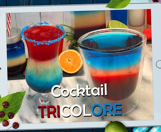 comment faire un cocktail bleu blanc rouge