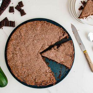 Gâteau au chocolat à la courgette (recette sans beurre)
