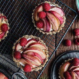 recette tarte healthy peche