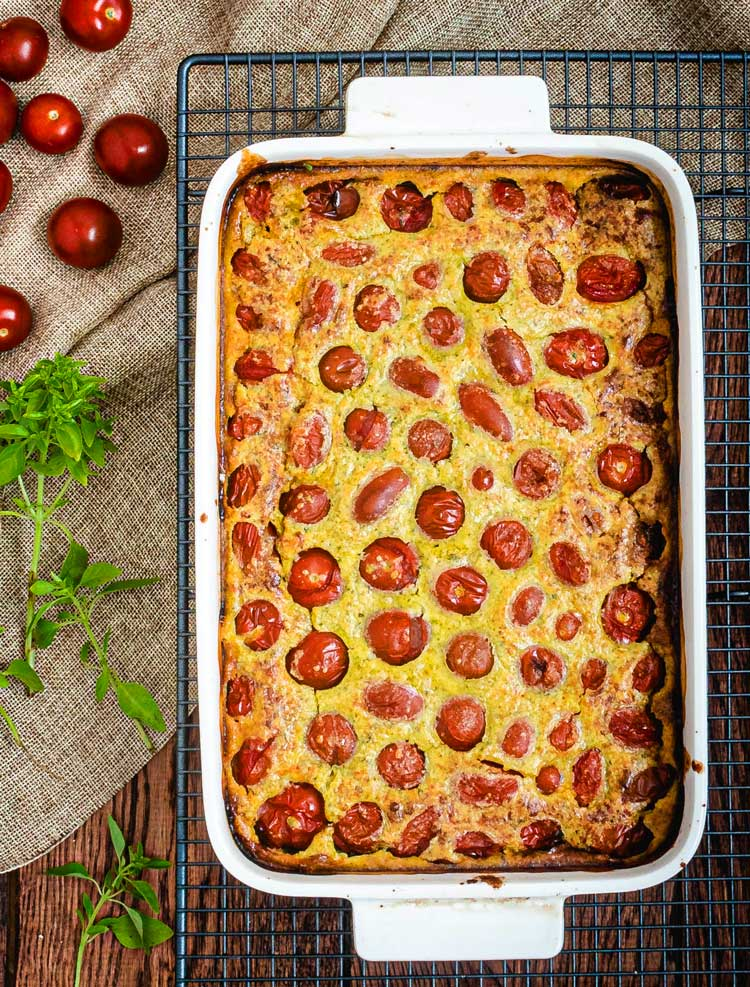 recette clafoutis healthy tomate cerise