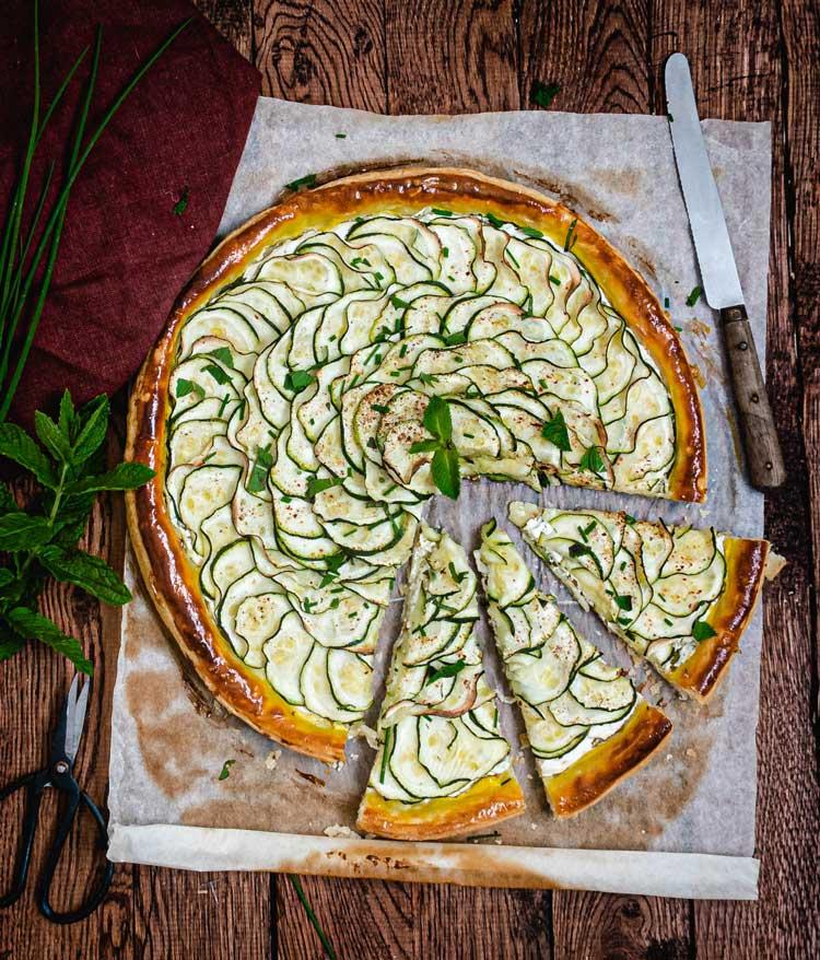recette tarte fine healthy courgette